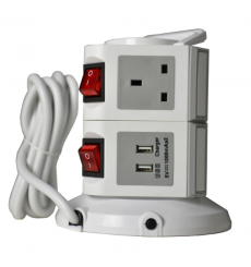 Spectrum 6 Way with 2 USB Power Extension