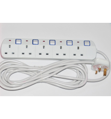 Spectrum 5 Way Extension Lead, With Individual Switch With Indicator Light